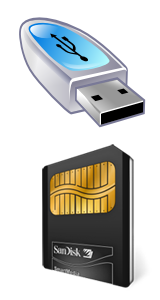 Mémoire USB ou carte SD